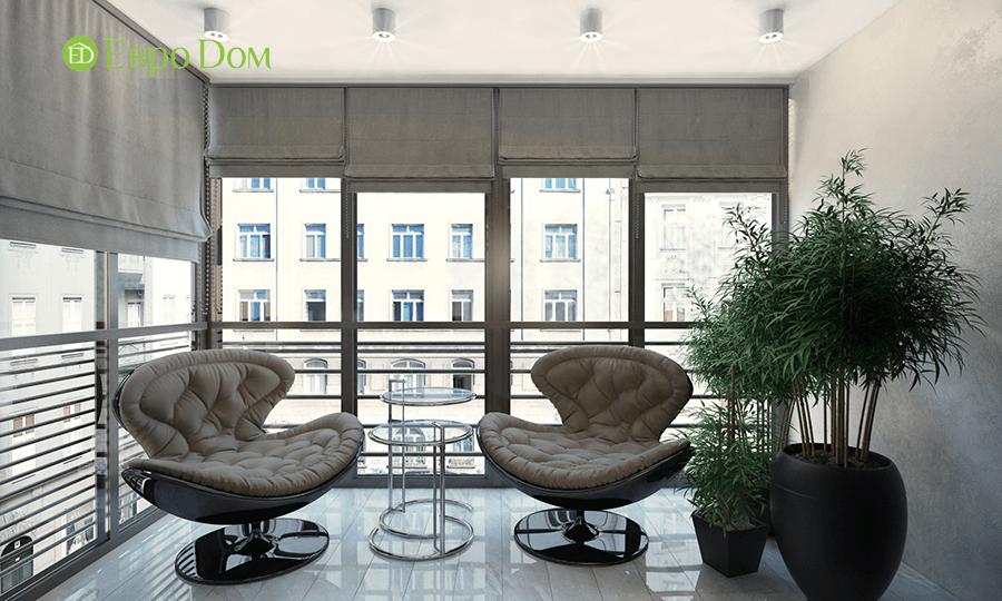 Дизайн трёхкомнатной квартиры 109 кв. м в современном стиле. Фото 013