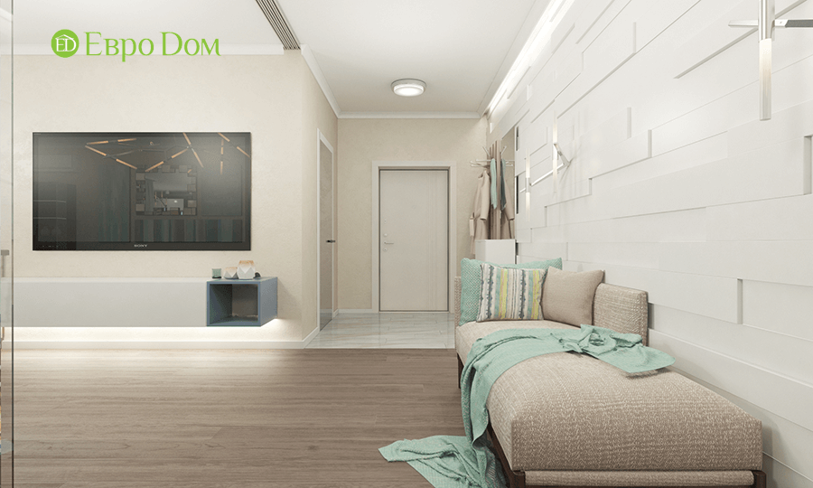 Дизайн трёхкомнатной квартиры 109 кв. м в современном стиле. Фото 017