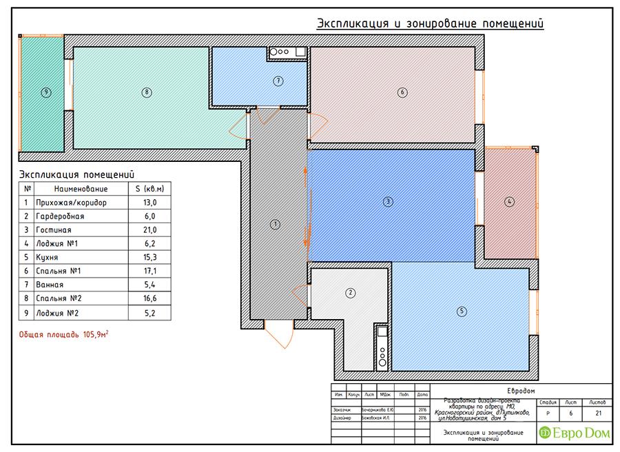 Дизайн трёхкомнатной квартиры 109 кв. м в современном стиле. Фото 027