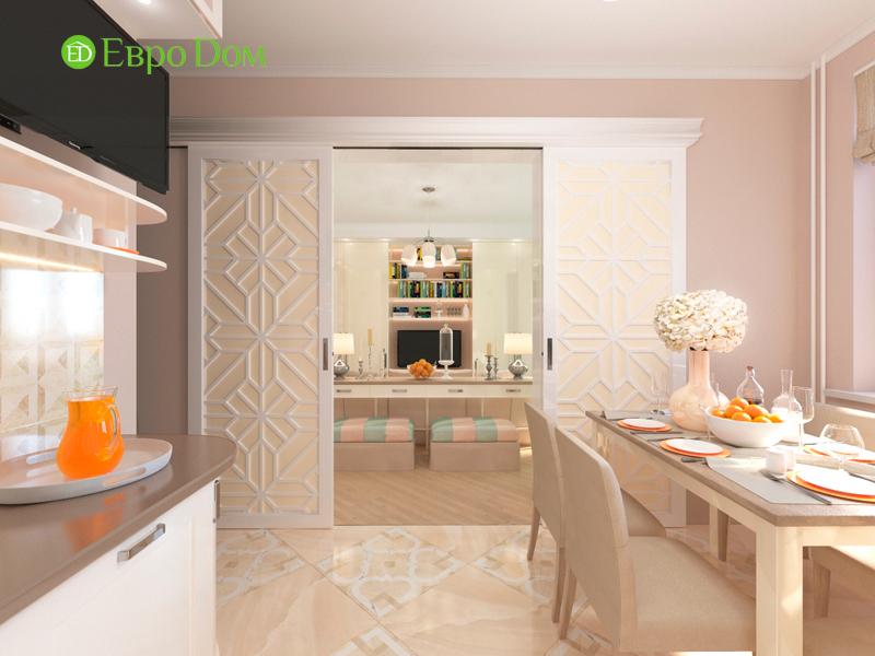 Дизайн трехкомнатной квартиры 90 кв. м в английском стиле. Фото 08