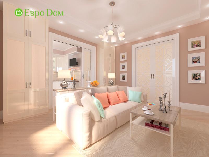 Дизайн трехкомнатной квартиры 90 кв. м в английском стиле. Фото 011