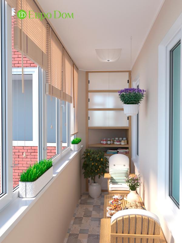 Дизайн трехкомнатной квартиры 90 кв. м в английском стиле. Фото 013