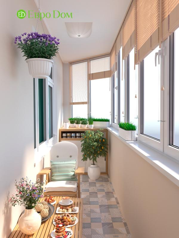Дизайн трехкомнатной квартиры 90 кв. м в английском стиле. Фото 014