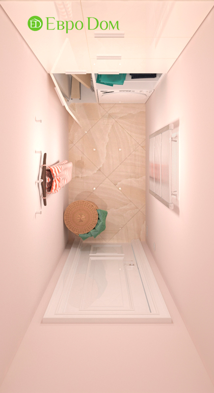 Дизайн трехкомнатной квартиры 90 кв. м в английском стиле. Фото 015