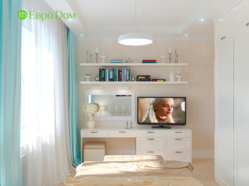 Дизайн трехкомнатной квартиры 90 кв. м в английском стиле. Фото 021
