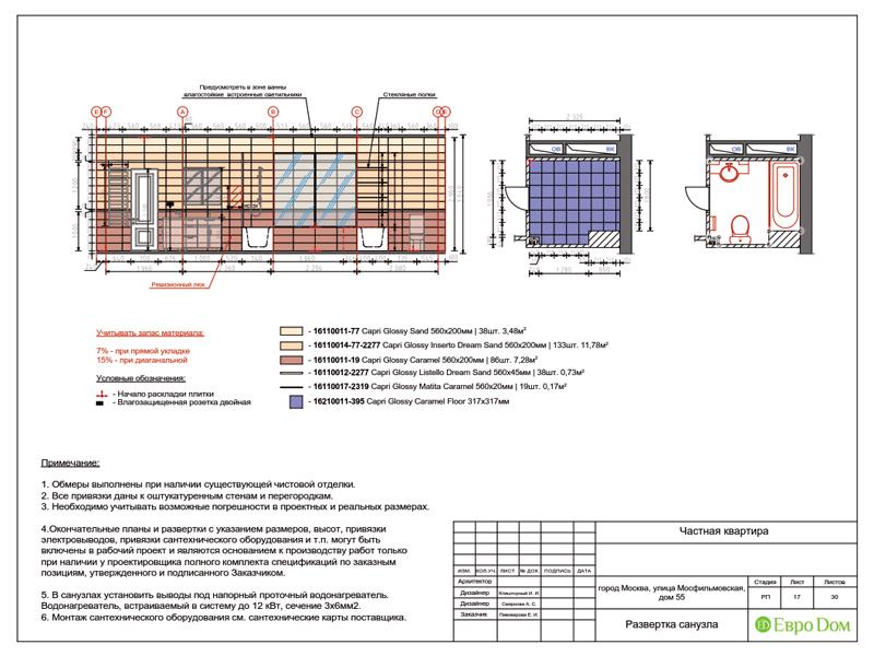 Дизайн трехкомнатной квартиры 90 кв. м в английском стиле. Фото 039