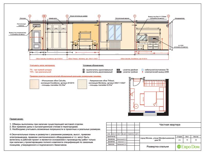 Дизайн трехкомнатной квартиры 90 кв. м в английском стиле. Фото 041
