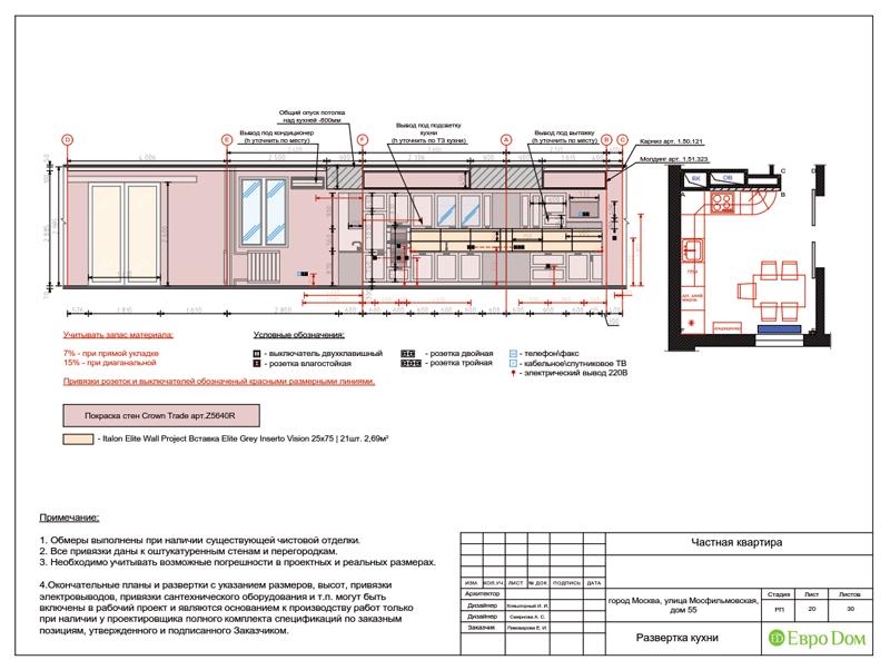 Дизайн трехкомнатной квартиры 90 кв. м в английском стиле. Фото 042