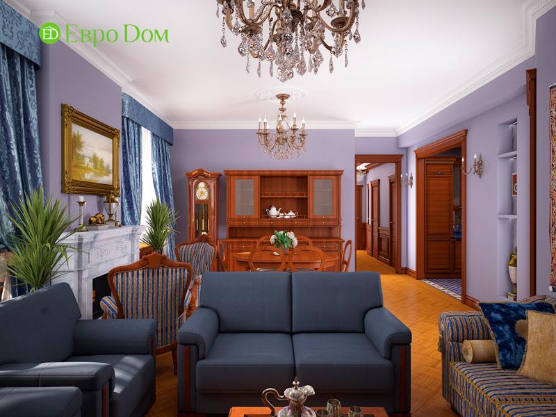 Дизайн трехкомнатной квартиры 89 кв. м в английском стиле. Фото 03