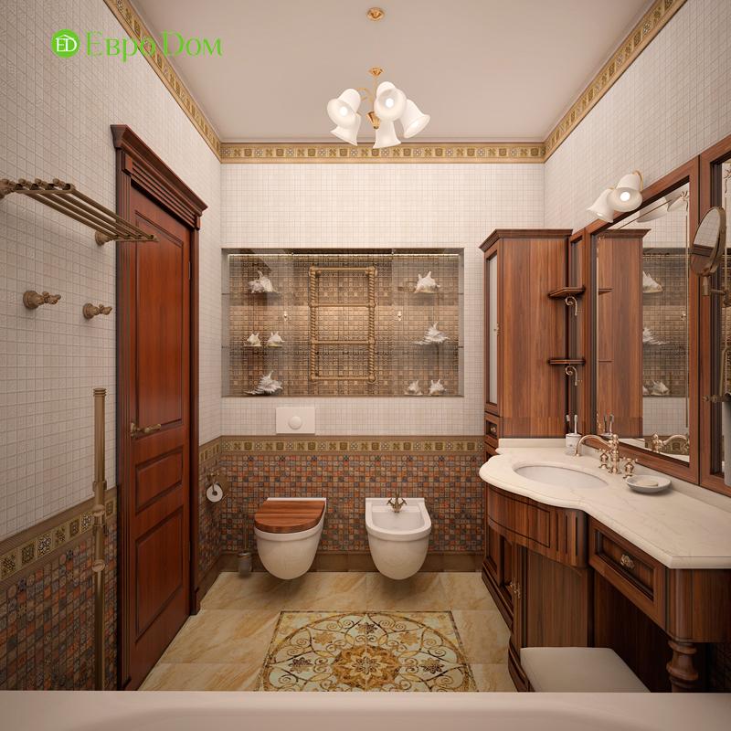 Дизайн трехкомнатной квартиры 89 кв. м в английском стиле. Фото 012
