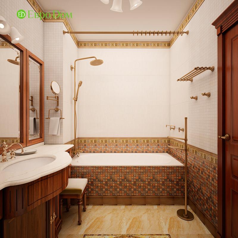 Дизайн трехкомнатной квартиры 89 кв. м в английском стиле. Фото 014