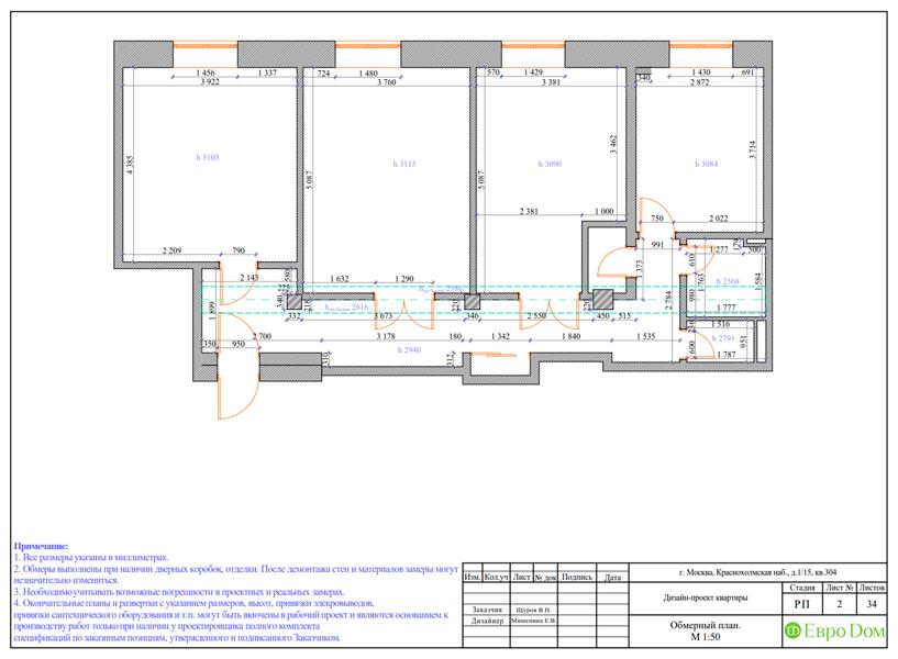 Дизайн трехкомнатной квартиры 89 кв. м в английском стиле. Фото 022