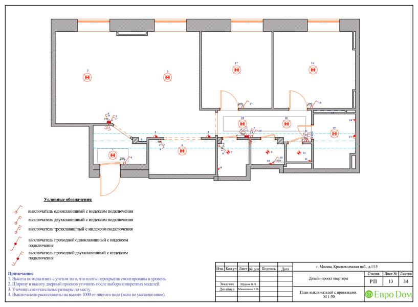 Дизайн трехкомнатной квартиры 89 кв. м в английском стиле. Фото 034