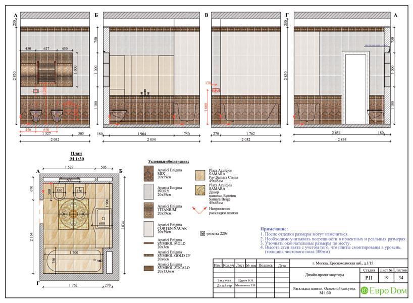 Дизайн трехкомнатной квартиры 89 кв. м в английском стиле. Фото 040