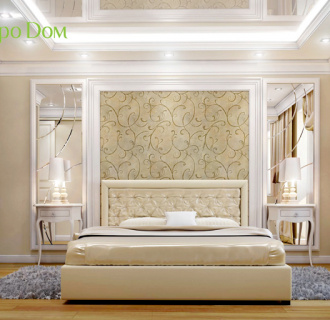 Дизайн трехкомнатной квартиры 100 кв. м в классическом стиле. Фото проекта