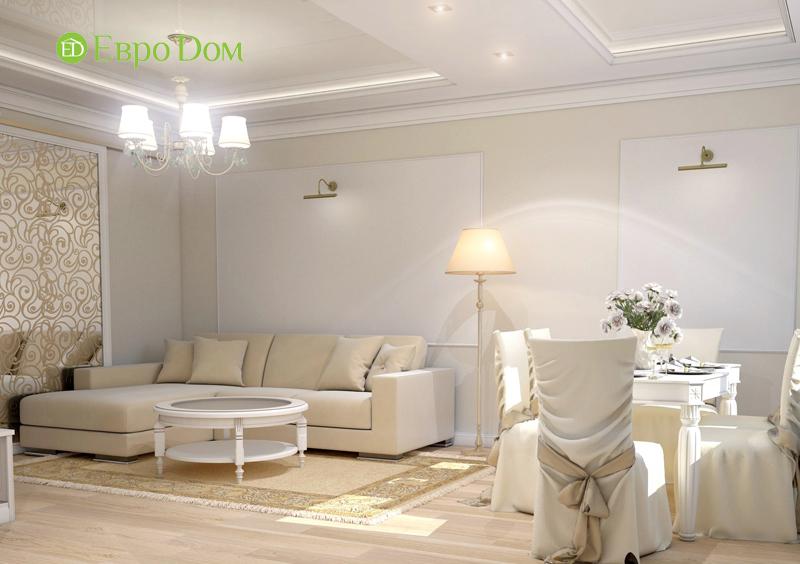 Дизайн интерьера 3-комнатной квартиры 100 кв. м в классическом стиле. Фото 06