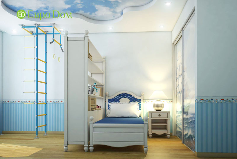 Дизайн интерьера 3-комнатной квартиры 100 кв. м в классическом стиле. Фото 07