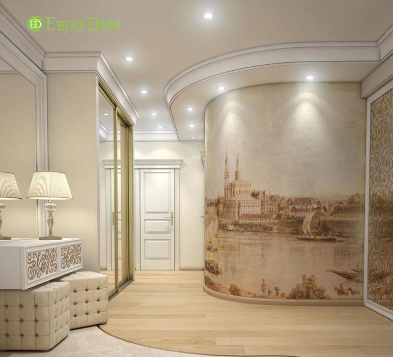 Дизайн интерьера 3-комнатной квартиры 100 кв. м в классическом стиле. Фото 08