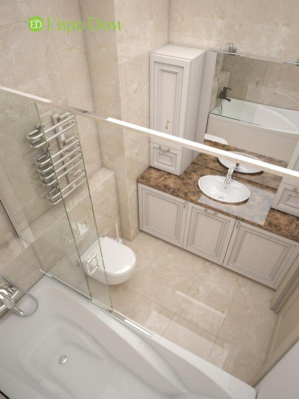 Дизайн интерьера 3-комнатной квартиры 100 кв. м в классическом стиле. Фото 09
