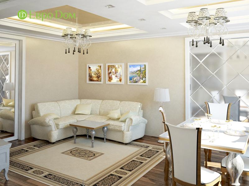 Дизайн интерьера 3-комнатной квартиры 100 кв. м в классическом стиле. Фото 016