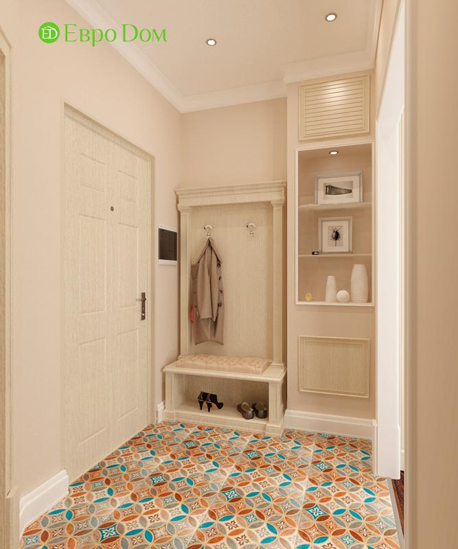 Дизайн 3-комнатной квартиры 83 кв. м в классическом стиле. Фото 02