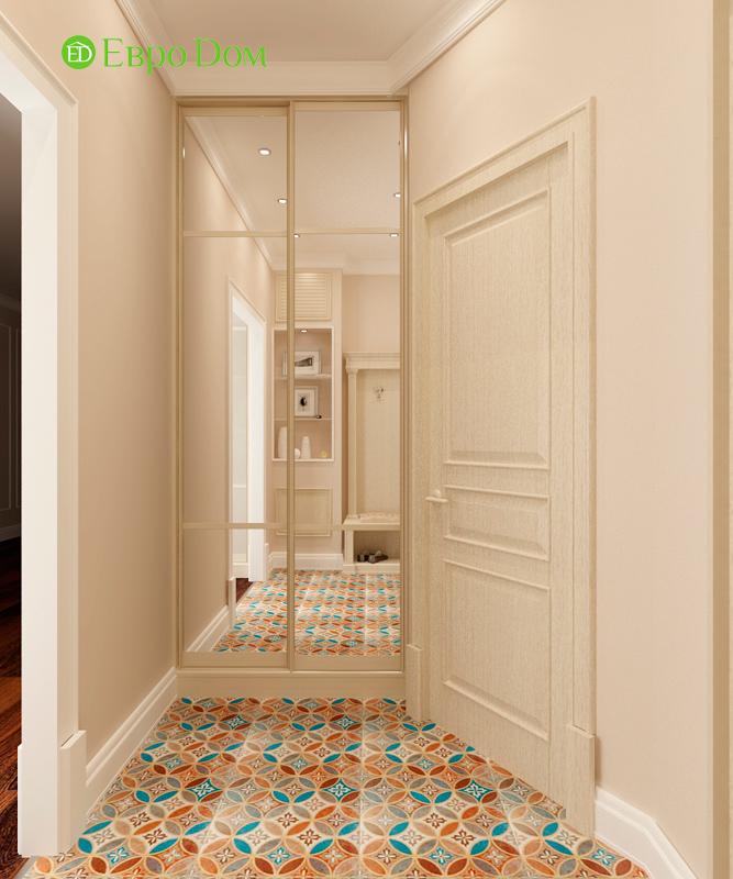 Дизайн 3-комнатной квартиры 83 кв. м в классическом стиле. Фото 03