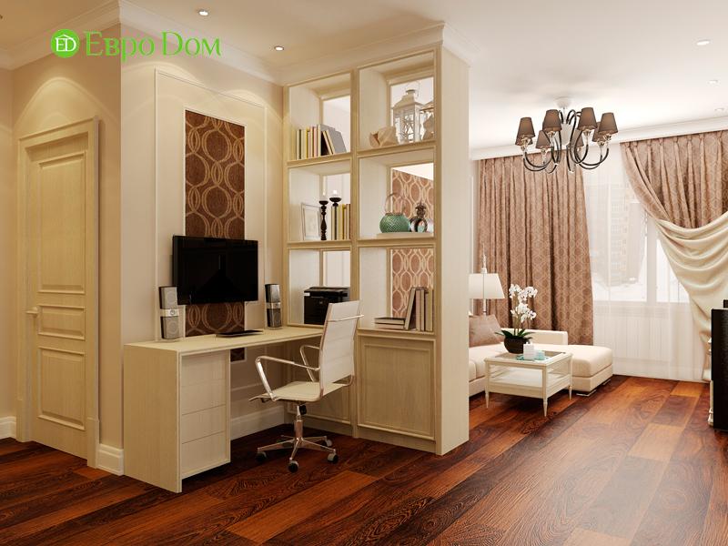 Дизайн 3-комнатной квартиры 83 кв. м в классическом стиле. Фото 05
