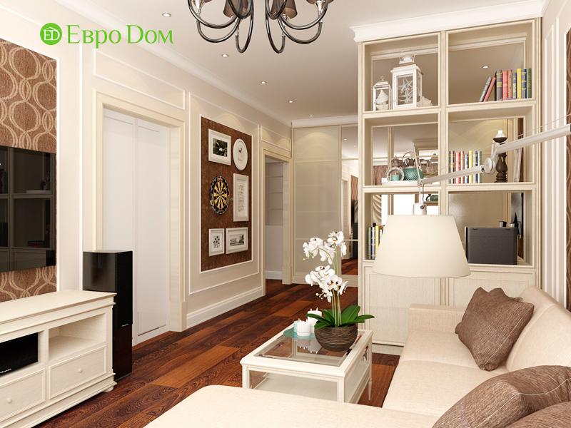Дизайн 3-комнатной квартиры 83 кв. м в классическом стиле. Фото 06