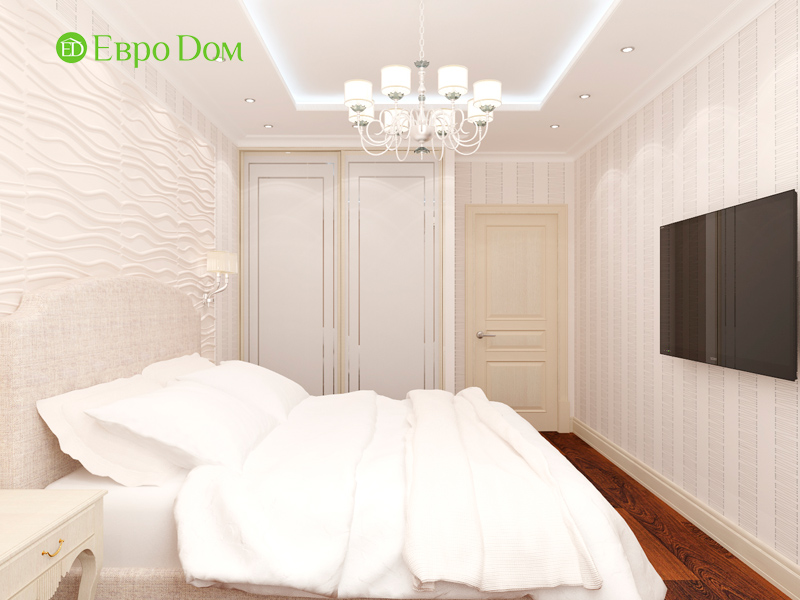 Дизайн 3-комнатной квартиры 83 кв. м в классическом стиле. Фото 017