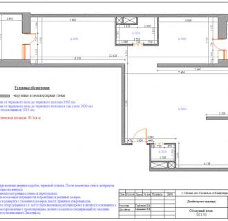 Дизайн трехкомнатной квартиры 83 кв. м в классическом стиле. Фото проекта
