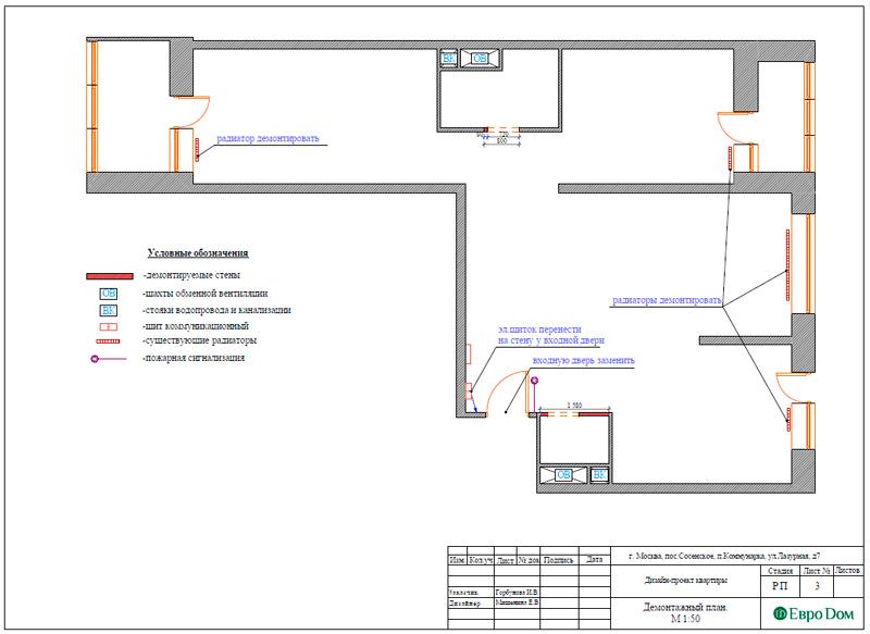 Дизайн 3-комнатной квартиры 83 кв. м в классическом стиле. Фото 024