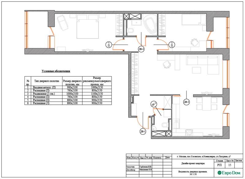 Дизайн 3-комнатной квартиры 83 кв. м в классическом стиле. Фото 036