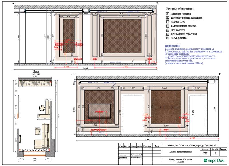 Дизайн 3-комнатной квартиры 83 кв. м в классическом стиле. Фото 037