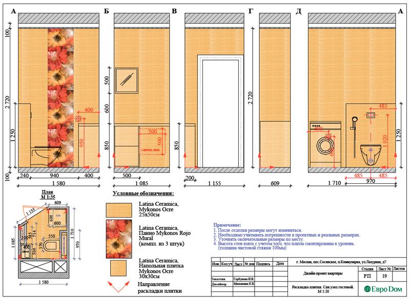 Дизайн 3-комнатной квартиры 83 кв. м в классическом стиле. Фото 039