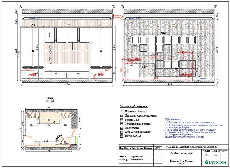 Дизайн 3-комнатной квартиры 83 кв. м в классическом стиле. Фото 042