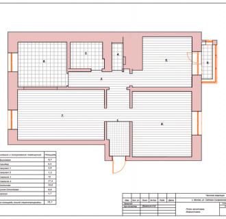 Дизайн трехкомнатной квартиры 77 кв. м в романском стиле. Фото проекта