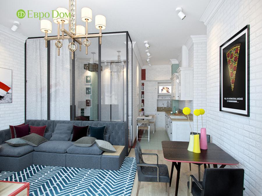На фото: интерьер гостиной в скандинавском стиле
