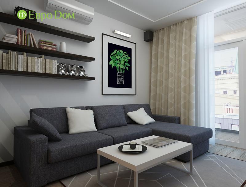 Дизайн 3-комнатной квартиры 87 кв. м в современном стиле. Фото 03