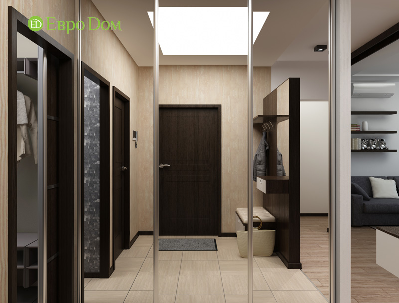Дизайн 3-комнатной квартиры 87 кв. м в современном стиле. Фото 06