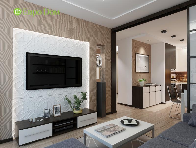 Дизайн 3-комнатной квартиры 87 кв. м в современном стиле. Фото 09