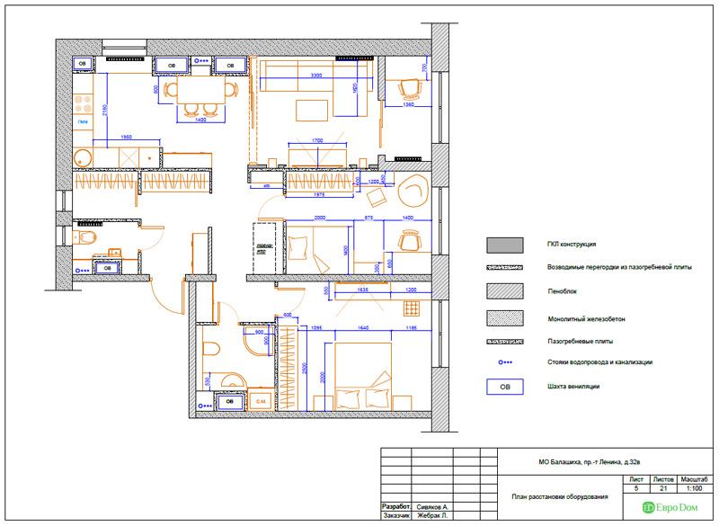Дизайн 3-комнатной квартиры 87 кв. м в современном стиле. Фото 034