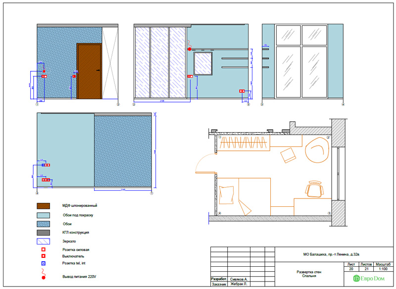 Дизайн 3-комнатной квартиры 87 кв. м в современном стиле. Фото 049
