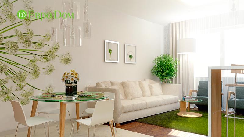 Дизайн 3-комнатной квартиры 73 кв. м.  Современный стиль. Фото 02