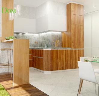 Дизайн трехкомнатной квартиры 73 кв. м в современном стиле. Фото проекта