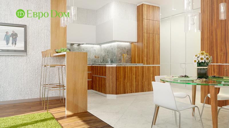 Дизайн 3-комнатной квартиры 73 кв. м.  Современный стиль. Фото 03