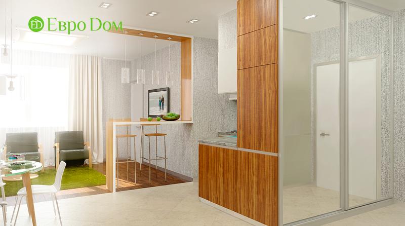 Дизайн 3-комнатной квартиры 73 кв. м.  Современный стиль. Фото 05