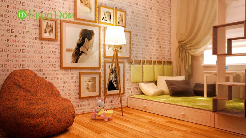 Дизайн 3-комнатной квартиры 73 кв. м.  Современный стиль. Фото 08