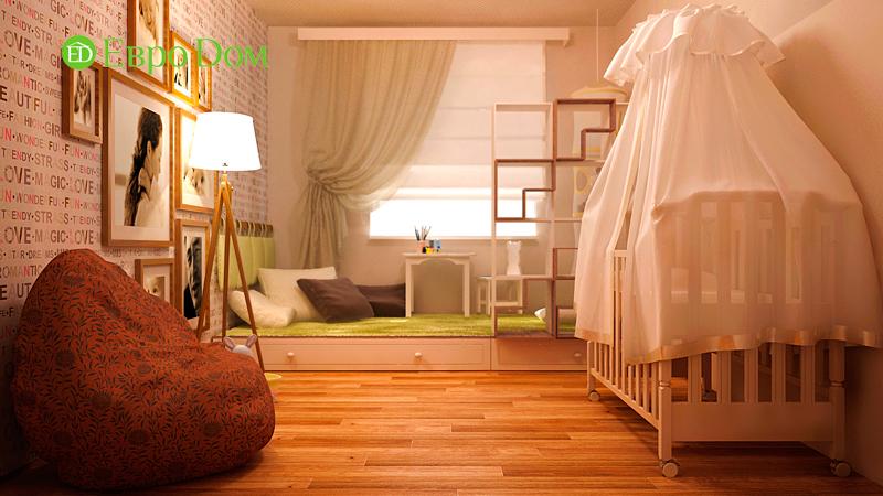 Дизайн 3-комнатной квартиры 73 кв. м.  Современный стиль. Фото 09