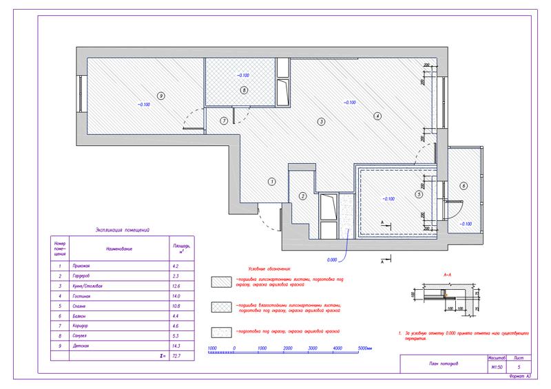 Дизайн 3-комнатной квартиры 73 кв. м.  Современный стиль. Фото 016