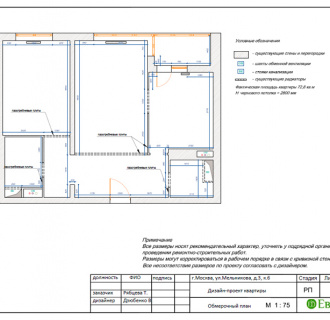 Дизайн трехкомнатной квартиры 72 кв. м в стиле эклектика. Фото проекта